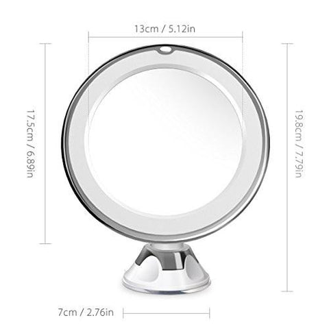 Image of Beautural 10X Magnifying Lighted Vanity Makeup Mirror with Natural White LED, 360 Degree Swivel... - zingydecor
