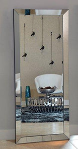 Naomi Home Mirrored Bevel Floor Mirror - zingydecor