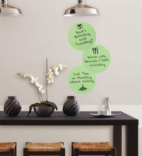 Brewster Wall Pops WPE93882 Peel & Stick Oh Pear Dry-Erase Dots with Marker, 3-Count - zingydecor