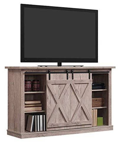 Image of Pamari Wrangler Sliding Barn Door TV Stand, Ashland Pine