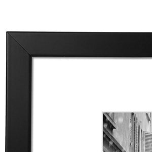 11x14 Black Picture Frame - Made to Display Pictures 8x10 with Mat or 11x14 Without Mat - Wide Molding - Wall Mounting Material Included