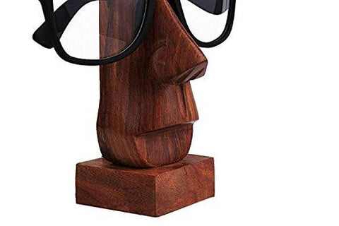 Image of Classic Hand Carved Rosewood Nose-shaped Eyeglass Spectacle/ Eyewear Holder