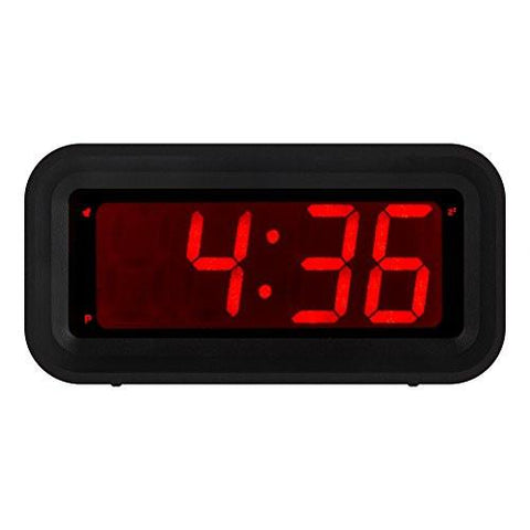 Image of Kwanwa LED Digital Alarm Clock Battery Powered Only Small for Bedrooms/ Wall/Travel With Big 1.2'' Red Digits