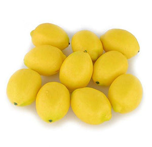 Fake Fruit Home House Kitchen Party Decoration Artificial Lifelike Simulation Yellow Lemon 10pcs Set - zingydecor