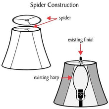 "Load image into Gallery viewer, Aspen Creative 31025 Transitional Hardback Drum (Cylinder) Shape Spider Construction Lamp Shade, 8"" wide (8"" x 8"" x 11"") - zingydecor"