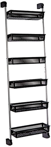 Neu Home Over the Door 6-Basket Hanging Storage Unit with Hooks - zingydecor