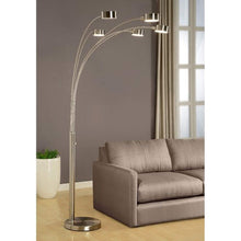 Load image into Gallery viewer, Artiva USA Micah - 5 Arc Brushed Steel Floor Lamp w/ Dimmer Switch, 360 Degree Rotatable Shades - Dim Options - Bright & Attractive - Solid Construction - Stainless Steel - Industrial & Mid-Century - zingydecor