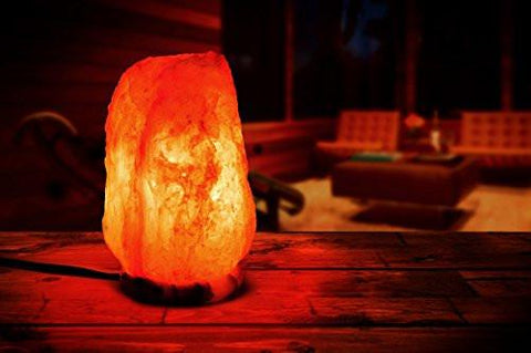 Image of Hemingweigh Natural Crystal Himalayan Salt Lamp With Genuine Marble Base, Bulb And Power Cord, 6 to 7 lbs.