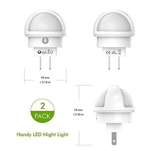 OxyLED N02 LED Night Light, Plug-in Wall Light with Dusk to Dawn Sensor, 0.26W White Light with... - zingydecor