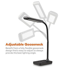 Load image into Gallery viewer, TaoTronics LED Desk Lamp, Flexible Gooseneck Table Lamp 7W, 5 Color Temperatures with 7 Brightness Levels, Touch Control, Memory Function - zingydecor