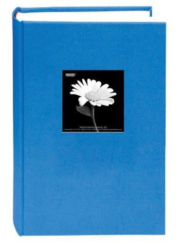Fabric Frame Cover Photo Album 300 Pockets Hold 4x6 Photos, Sky Blue