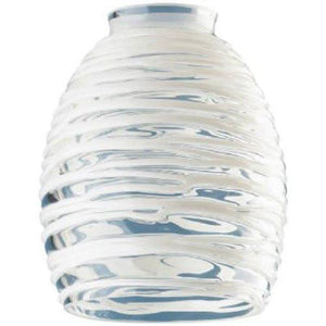 Westinghouse Lighting Corp Glass Shade, Clear with White Rope Design - zingydecor