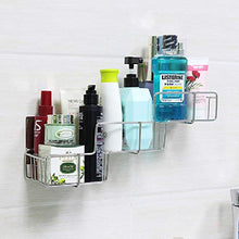 Load image into Gallery viewer, VIAV Adhesive Bathroom Shelf Organizer Storage Stainless Steel Shower Caddy Wall Mount No Drilling No Rusting (Style A)