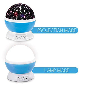 Sun And Star Lighting Lamp 4 LED Bead 360 Degree Romantic Room Rotating Cosmos Star Projector With 59 Inch USB Cable, Light Lamp Starry Moon Sky Night Projector Kid Bedroom Lamp for Christmas - zingydecor