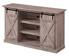 Load image into Gallery viewer, Pamari Wrangler Sliding Barn Door TV Stand, Ashland Pine - zingydecor