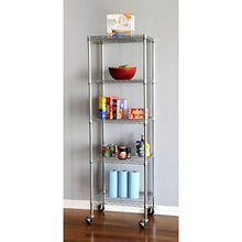 "Load image into Gallery viewer, Seville Classics 5-Tier UltraZinc NSF Steel Wire Shelving /w Wheels, 18"" D x 24"" W x 72""H - zingydecor"