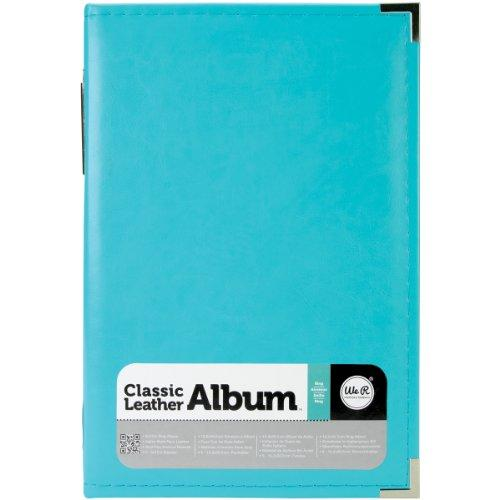 We R Memory Keepers Classic Leather 3-Ring Photo Album, 6 by 12-Inch, Aqua