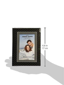 "Brag Book With Frame 36 Pocket 4""X6""-Black With White Dots - zingydecor"