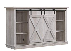 Pamari Wrangler Sliding Barn Door TV Stand, Ashland Pine - zingydecor