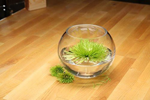 "Image of Hosley's 6"" Diameter Glass Bowl. Ideal for Floral Centerpiece Arrangements, Tealight Gardens, Spa & Aromatherapy settings, DIY Craft Projects"