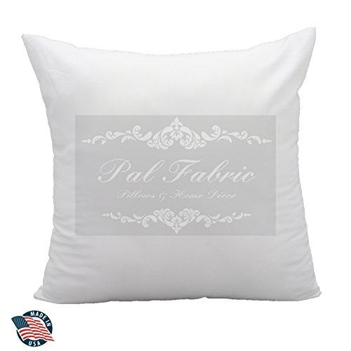 Premium Cotton Feel MicroFiber Square Sham Pillow Insert 18