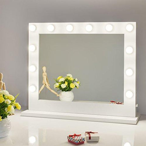 ... Chende White Hollywood Lighted Makeup Vanity Mirror Light, Makeup  Dressing Table Vanity Set Mirrors With ...