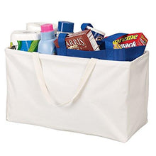Load image into Gallery viewer, Household Essentials 2213 Krush Canvas Utility Tote - Reusable Grocery Shopping Bag - Laundry Carry Bag