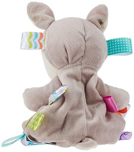 Taggies Soothing Sensory Stuffed Animal Security Blanket, Flora Fawn, 13 x 13-Inches
