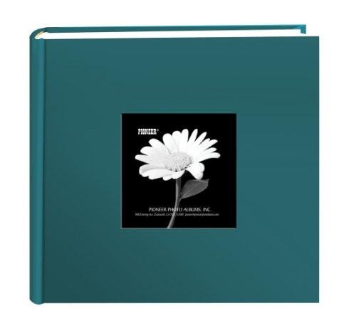 Pioneer 100 Pocket Fabric Frame Cover Photo Album, Majestic Teal - zingydecor