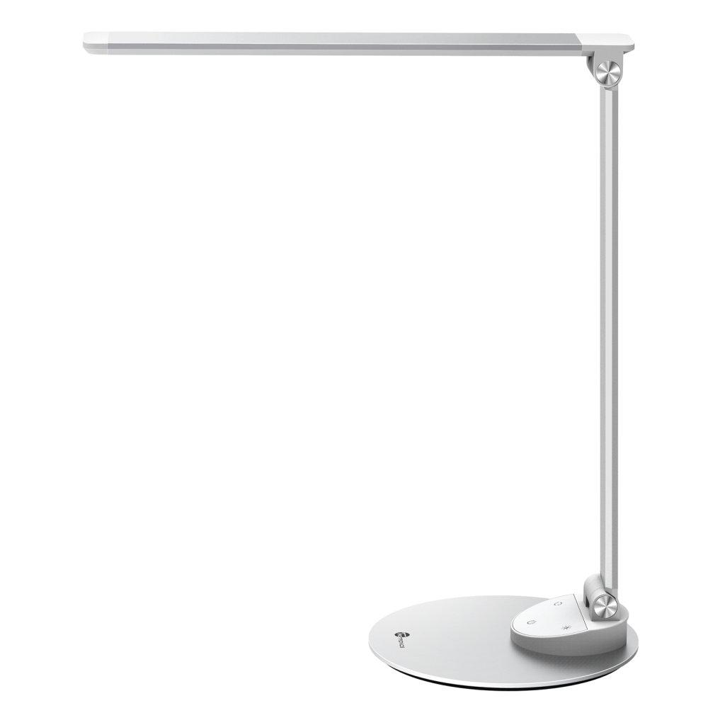 TaoTronics LED Desk Lamp with USB Charging Port, Eye- care Dimmable Lamp, Metal, Glare-Free, 5 Color Temperatures with 5 Brightness Levels, Touch Control, Memory Function