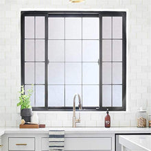 "Load image into Gallery viewer, Rabbitgoo Privacy Window Film Matte White Window Film Frosted Window Film Static Cling Glass Film Non Adhesive Window Film for Home Bathroom Office Meeting Room Living Room 17.7"" x 78.7"" - zingydecor"