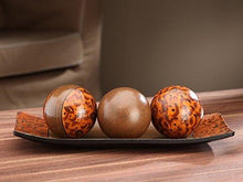 Load image into Gallery viewer, Hosley's Brown Decorative Tray and Orb/ball Set. Burlwood Style Finish. Great Gift