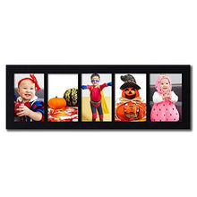 Load image into Gallery viewer, Adeco Decorative Wood Wall Hanging Picture Frame, 4 by 6-Inch, Black, 5-Divided Opening - zingydecor