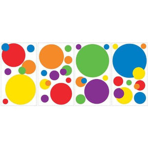 RoomMates RMK1248SCS Just Dots Primary Colors Peel & Stick Wall Decals - zingydecor