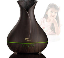 "WonderEsque Aromatherapy Essential Oil Diffuser - 400 ML ""Enjoy 8 Hours of Sleep"" Capacity - Ultrasonic Cool Mist Humidifier – Waterless Auto Shut-off - 7 Color LED Lights Changing For Bedroom, Baby - zingydecor"