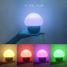 Load image into Gallery viewer, ANGTUO Night Light LED Mushroom Lamp Silicone with Wireless Remote Control 16 Different Color for... - zingydecor