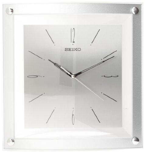 Seiko Wall Clock Quiet Sweep Second Hand Clock Silver-Tone Metallic Case - zingydecor