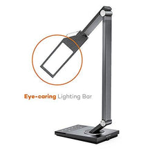 LED Desk Lamp, TaoTronics Stylish Metal Table Lamps, Office Light with USB Charging Port, 5 Color Modes, 6 Brightness Levels, Memory/ Favorite Function, Timer, Night light