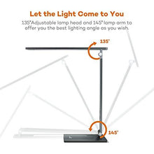 Load image into Gallery viewer, TaoTronics TT-DL18 10W Eye Care Desk Lamp with Durable Metal Body, Touch Sensitive Control and 4 Lighting Modes - zingydecor