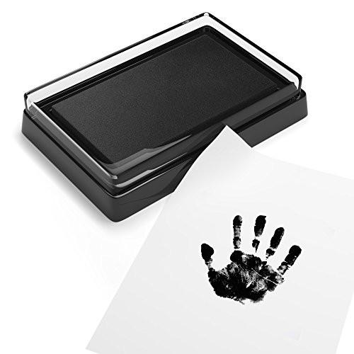Baby Safe Print Ink Pad, Non-Toxic Baby Footprint and Handprint Kit, Keepsake Gifts to... - zingydecor