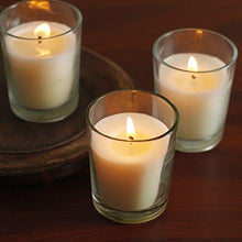 Load image into Gallery viewer, Set of 48 Unscented Glass Filled Votive Candles - 12 Hour Burn Time - zingydecor