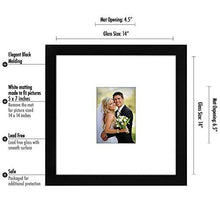 14x14 Wedding Signature Picture Frame - Matted to Fit Pictures 5x7 Inches or 14x14 Without Mat - Made with Glass - zingydecor