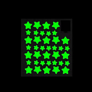 MAFOX Glow in the Dark Wall or Ceiling Stars with Moon Stickers – Luminous Decal Stickers for Simulated...