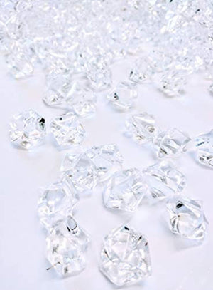 350 Pieces Acrylic Clear Ice Rock Gems for Vase Fillers, Table Scatter, Event, Wedding, Photography Props, Arts & Crafts. T.W. NOVELTY (350, 0.75