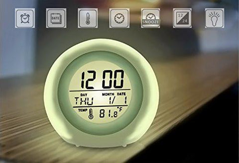 Alarm Clock, Awakelion Wake Up Light Clock Premium Digital Display Model for Adults, Kids & Teens - zingydecor
