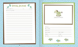 Baby Boy Memory Book Hardcover Record Babys First Five Years Diary Precious Moments Milestone... - zingydecor