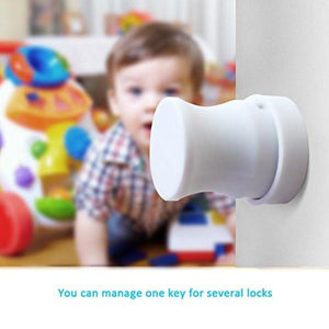YOOFOSS Baby Safety Magnetic Cabinet Locks - No Tools Or Screws Needed - 8 Locks + 2 Key - zingydecor