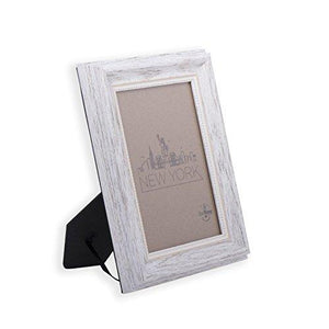 8x10 Picture Frame White / Gold - Mount / Desktop Display, Frames by EcoHome - zingydecor