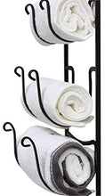 Load image into Gallery viewer, DecoBros Wall Mount Multi-Purpose Towel/Wine/Hat Rack, Bronze - zingydecor