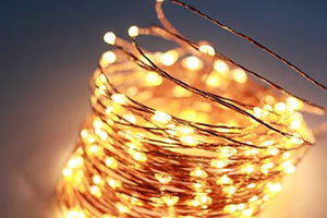 33Ft/66Ft 200leds Waterproof Copper Wire Starry String Fairy Lights USB Powered Hanging for Bedroom Indoor Outdoor Warm White Ambiance Lighting for Patio Wedding Decor (1, Silver wire-Warm white-66ft) - zingydecor